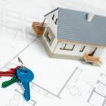 House on blueprint and keys